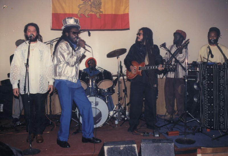 Silvanus with 6 Piece band in Harlem, New York